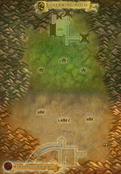 Map of Warsong Gulch