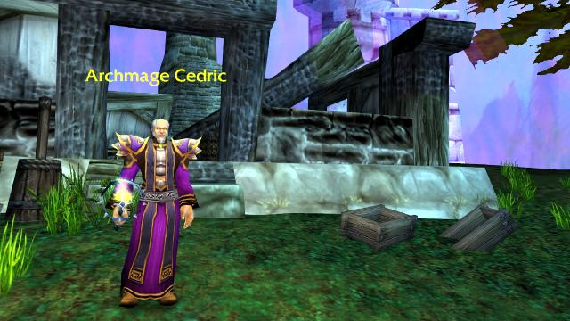 Archmage Cedric on the outskirts of Dalaran